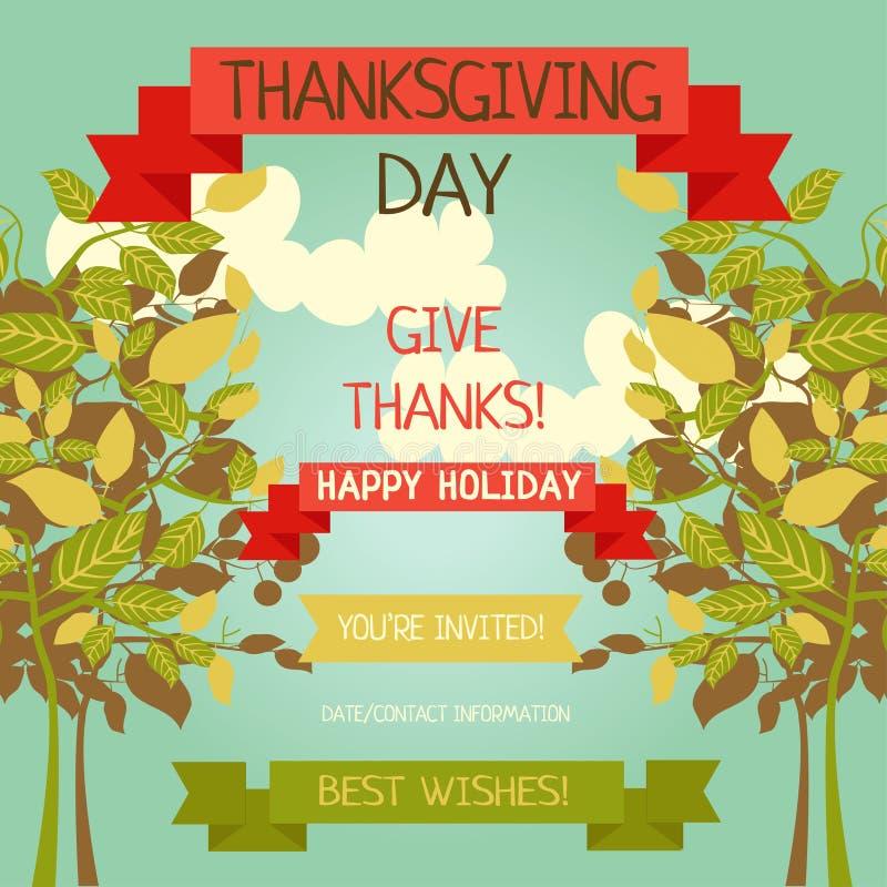 Thanksgiving Card Template Stock Vector Illustration Of - Thanksgiving card template