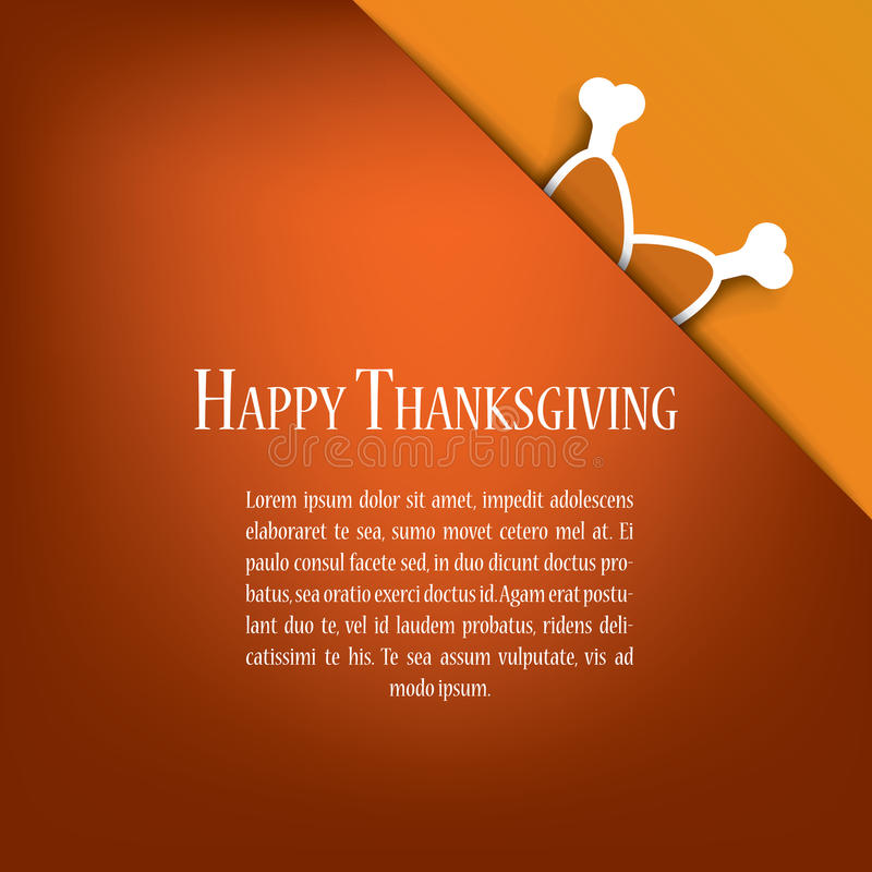 Thanksgiving card vector design with traditional vector illustration