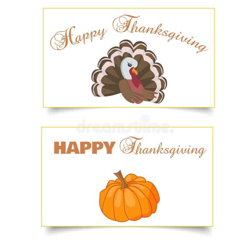 Thanksgiving card vector illustration design with traditional tu royalty free illustration