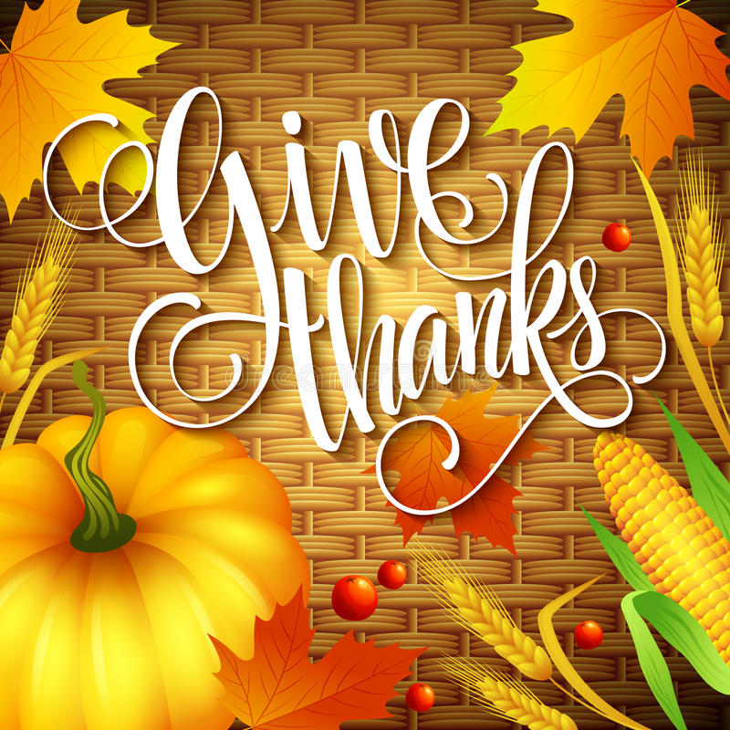 Free Thanksgiving Card Wicker Basket Background. Vector Royalty Free Stock Photo - 59547055