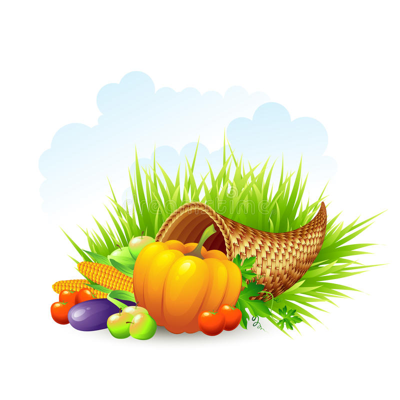Free Thanksgiving Card Wicker Basket Background. Vector Stock Photo - 59772850