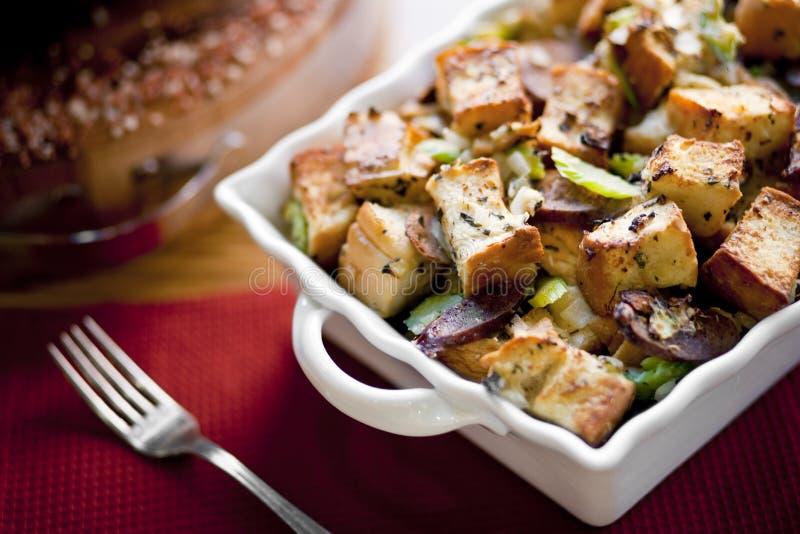 Thanksgiving Casserole Stuffing stock photos