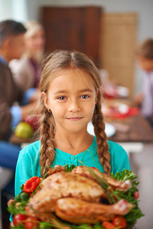 Thanksgiving child royalty free stock image