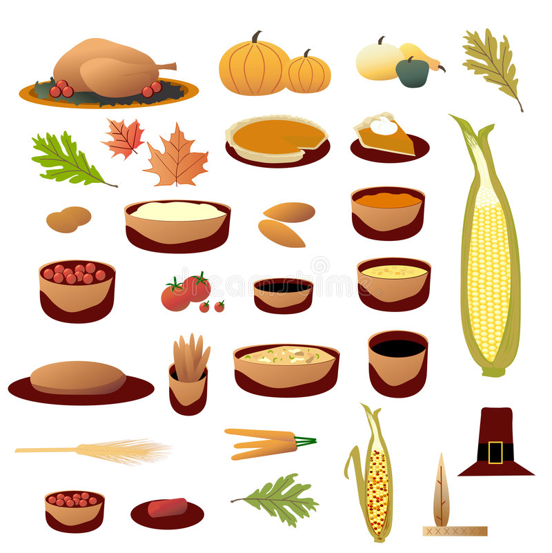 Download Thanksgiving Collection stock vector. Image of pilgrim - 6650539