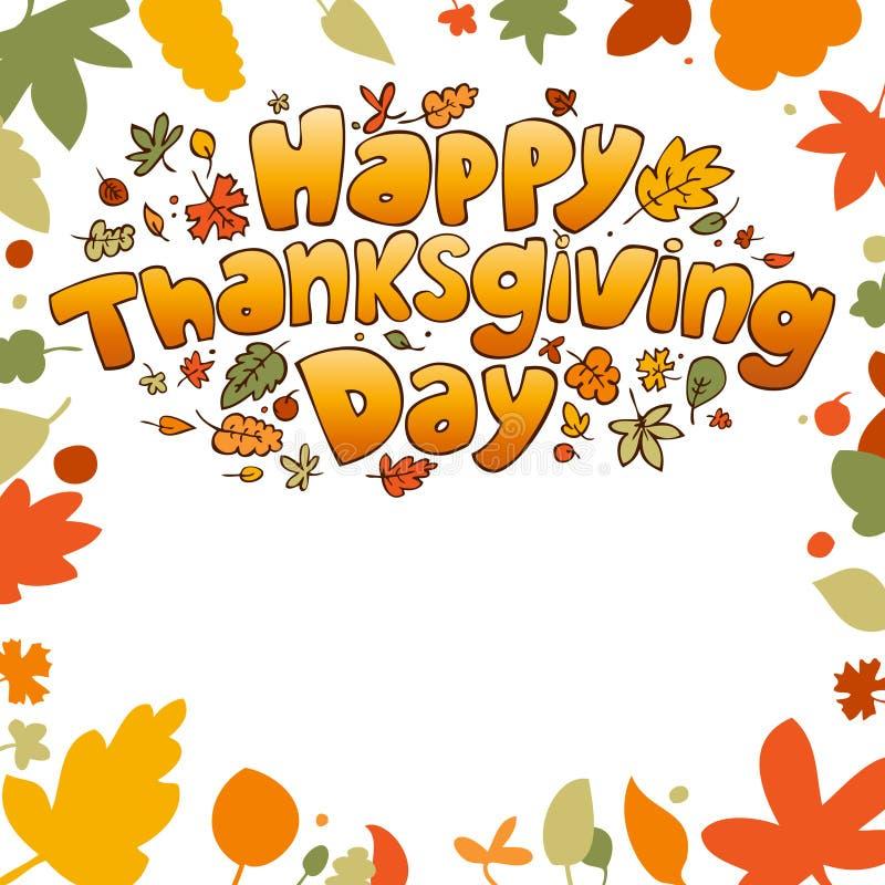 Thanksgiving Day. royalty free illustration