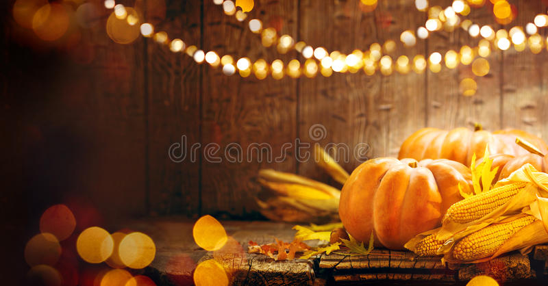 Thanksgiving Day. Autumn Thanksgiving pumpkins royalty free stock photo