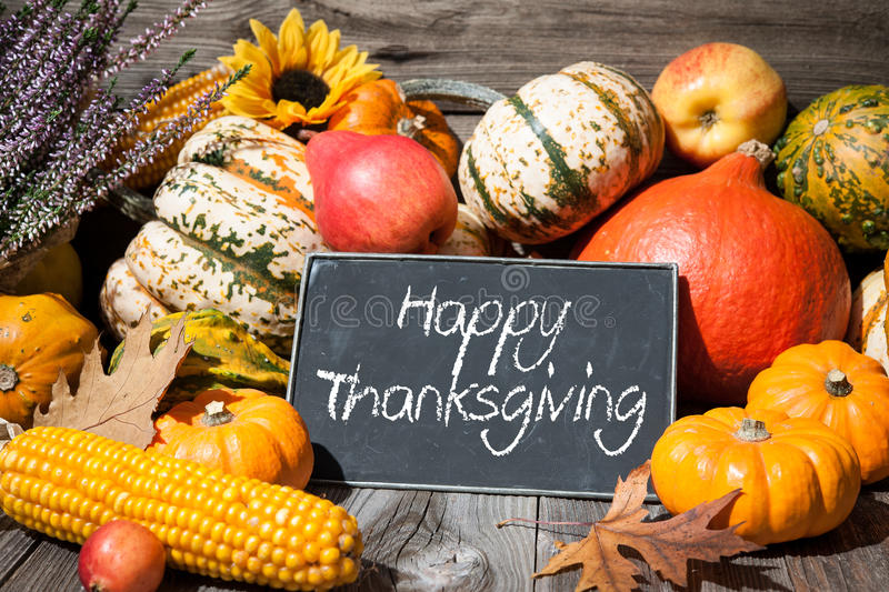 Thanksgiving day autumnal still life stock photography