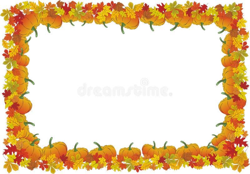 Thanksgiving day autumnal vector frame stock illustration