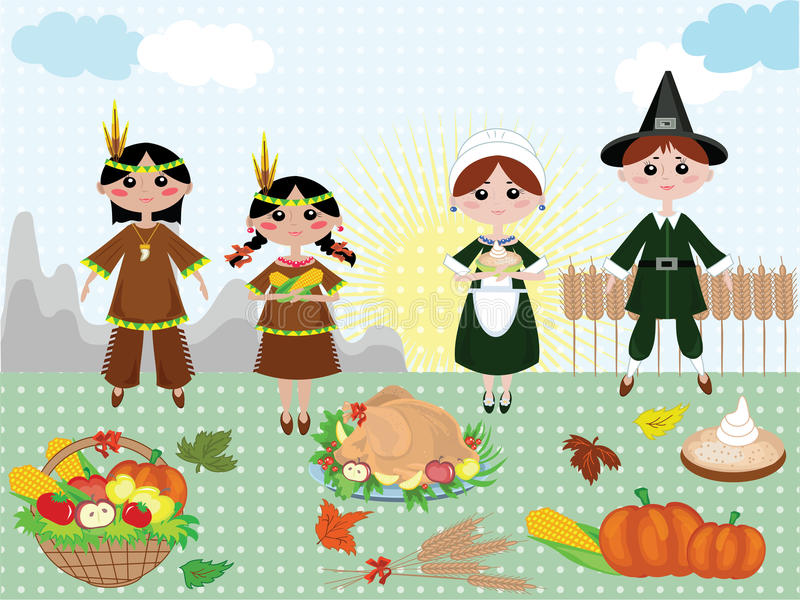 Thanksgiving day ,background stock illustration