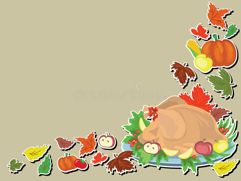 Thanksgiving day, background. royalty free illustration