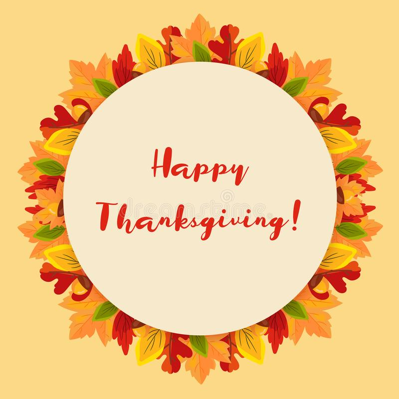 Thanksgiving Day background with fall leaves stock photo