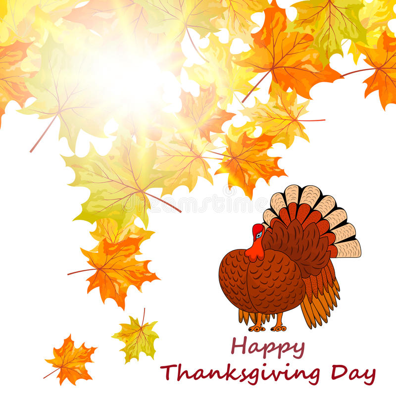 Thanksgiving Day background vector illustration