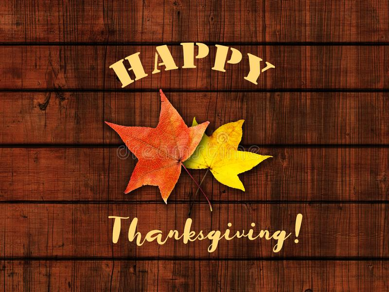 Thanksgiving Day background with turkey and leaves royalty free stock photo