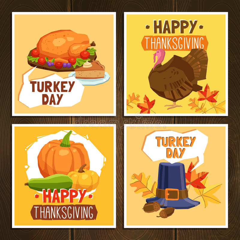 Thanksgiving Day Cards royalty free stock photos