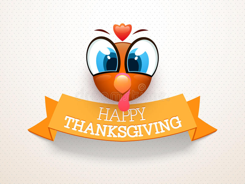 Thanksgiving Day celebration with turkey bird. royalty free illustration