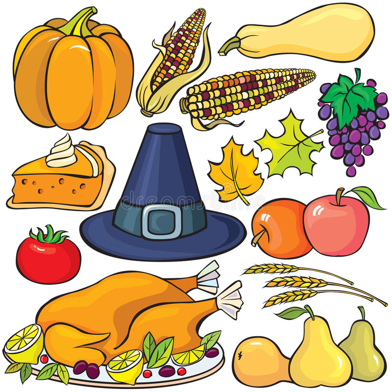 Download Thanksgiving Day Icon Set stock vector. Image of agricultural - 15962209