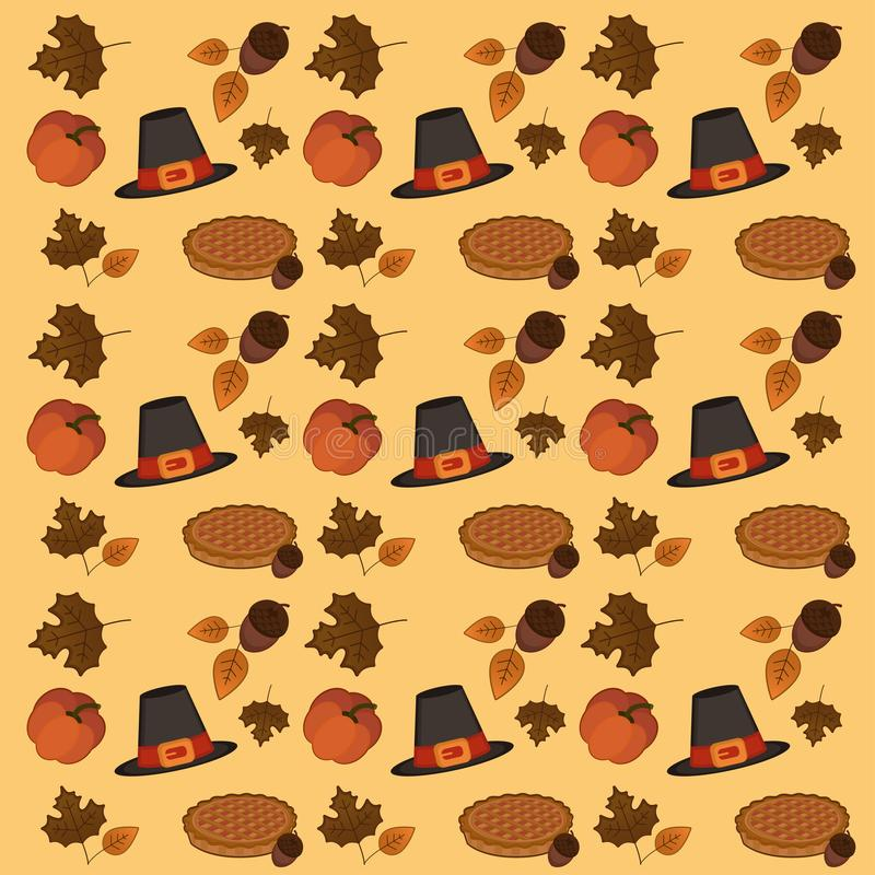Thanksgiving day wallpaper pattern stock illustration