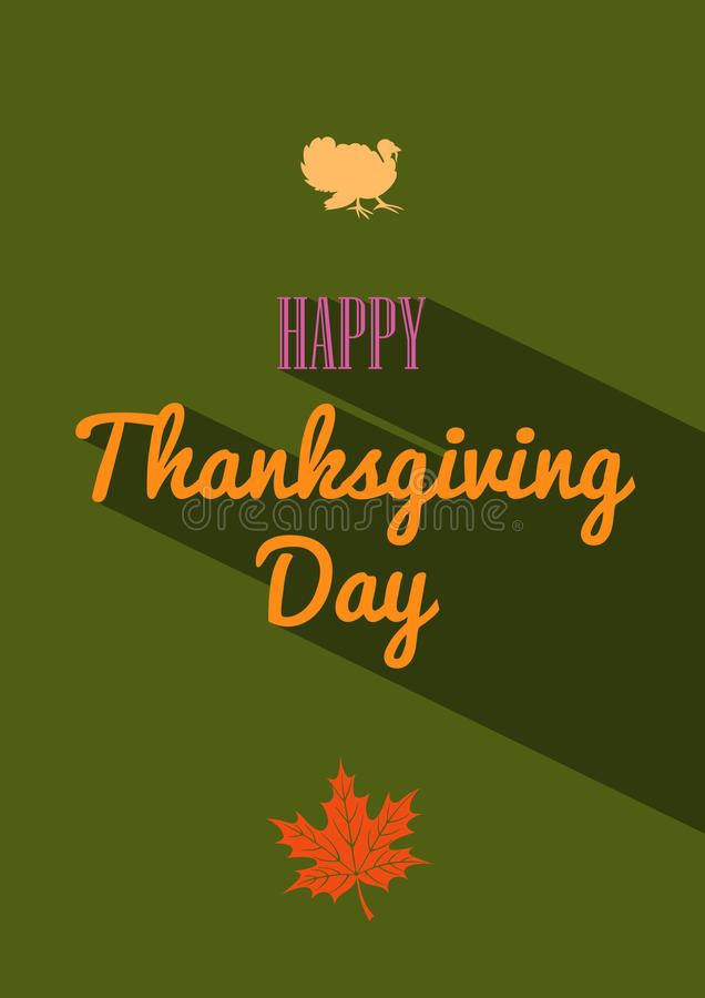 Thanksgiving day retro affiche stock illustratie