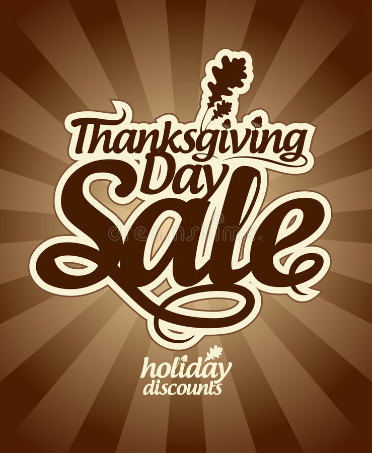 Thanksgiving Day Sale. Royalty Free Stock Photography