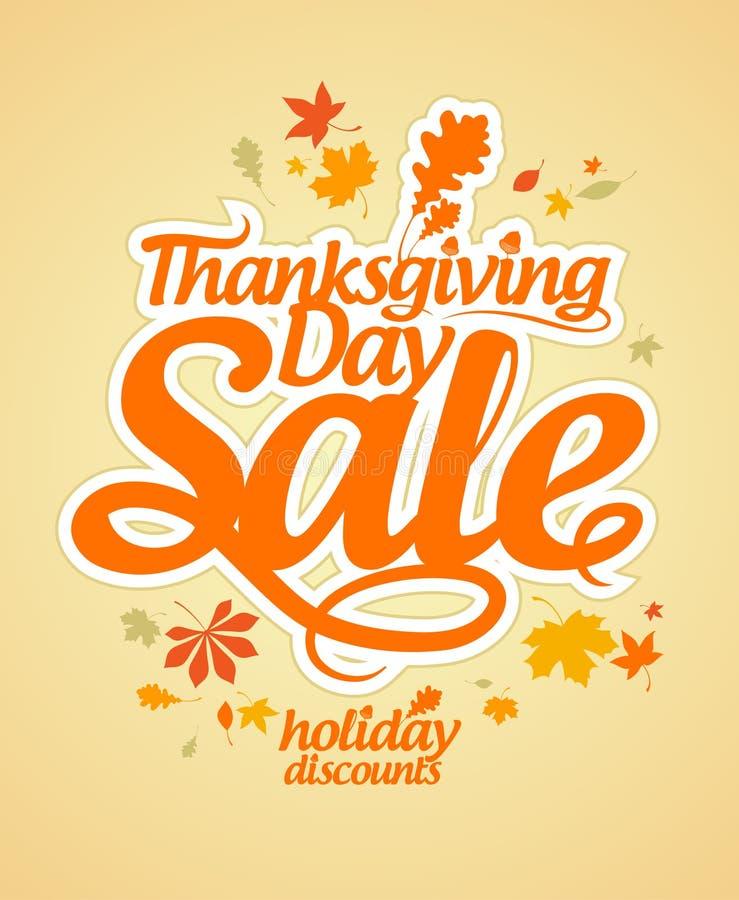 Thanksgiving Day sale. stock illustration