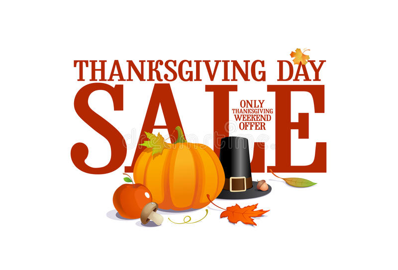 Thanksgiving day sale. royalty free illustration