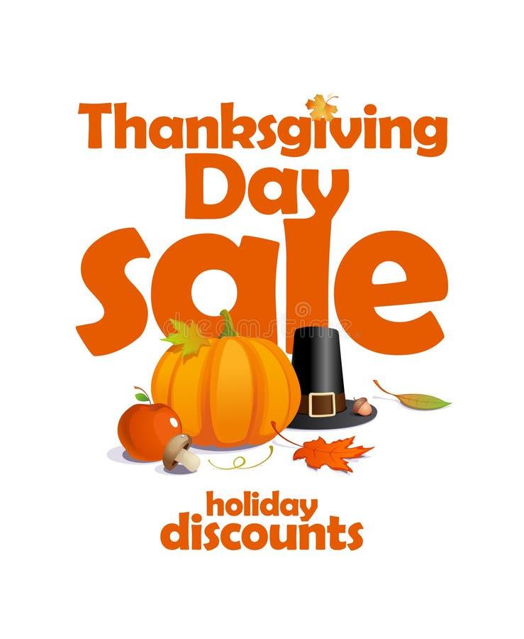 Thanksgiving day sale design. vector illustration