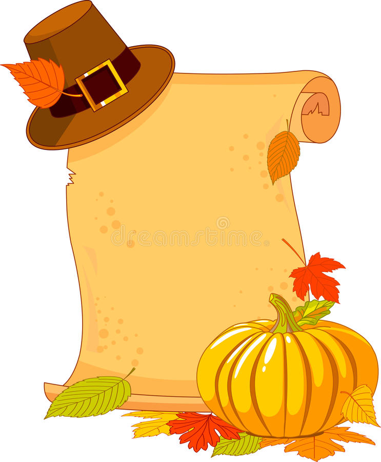 Thanksgiving Day scroll royalty free illustration