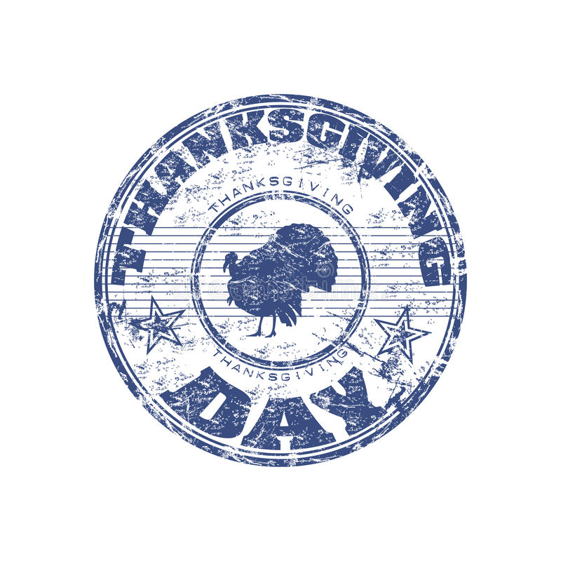 Download Thanksgiving day stamp stock vector. Image of damaged - 11983608