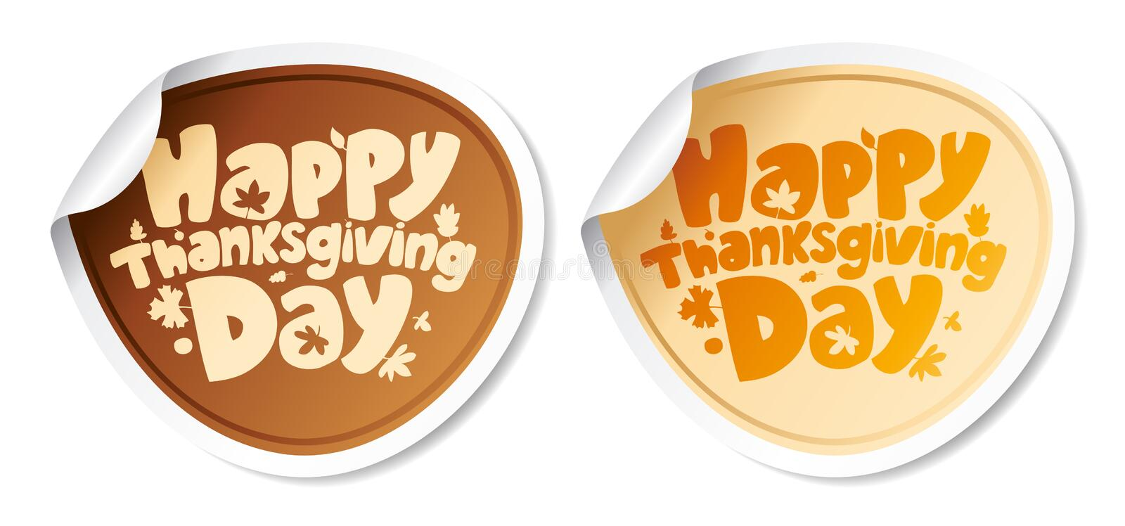 Thanksgiving Day stickers. royalty free illustration