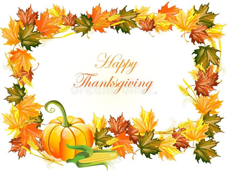 Thanksgiving dayachtergrond vector illustratie