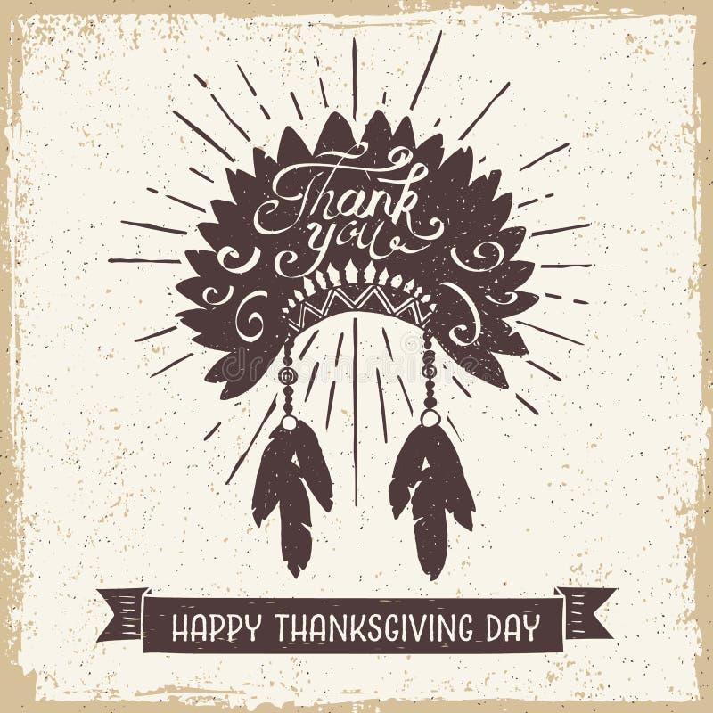 Thanksgiving daykaart vector illustratie