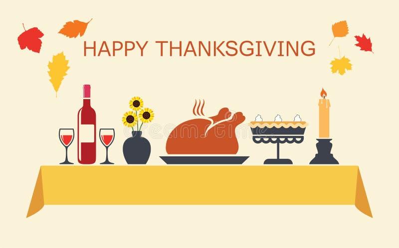 Thanksgiving daylijst vector illustratie