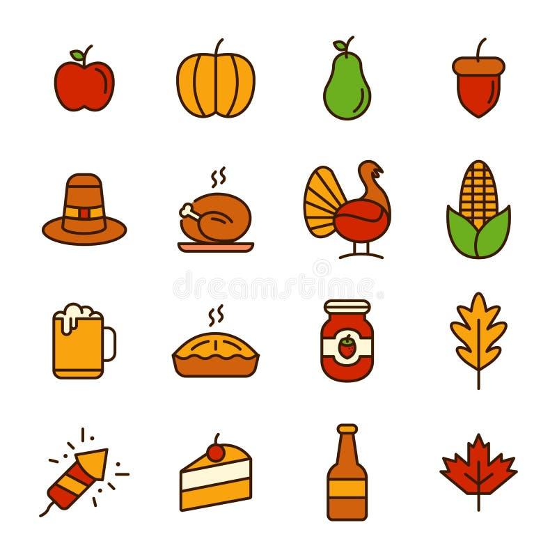 Thanksgiving daypictogram stock illustratie