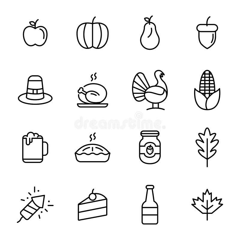 Thanksgiving daypictogram royalty-vrije illustratie