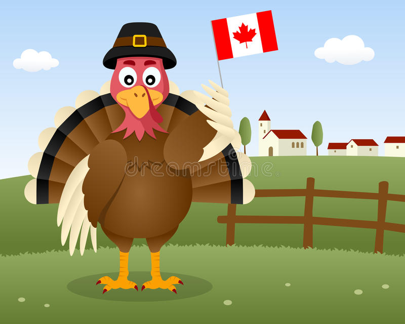 Thanksgiving dayscène - Turkije Canada vector illustratie