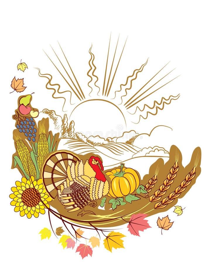 Thanksgiving decoration royalty free illustration