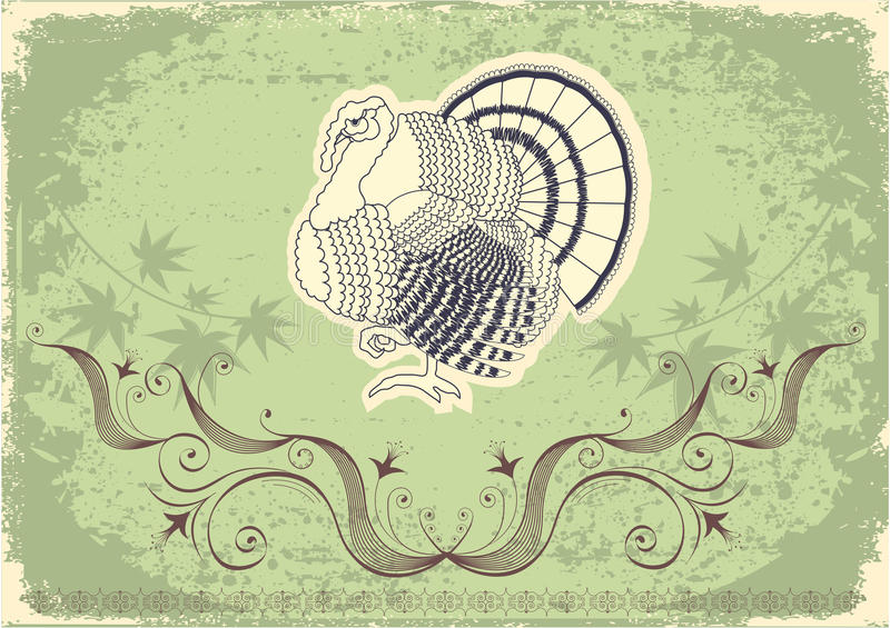Download Thanksgiving Decoration Postcard Stock Vector - Image: 20935895