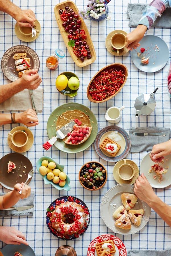 Thanksgiving desserts stock photo