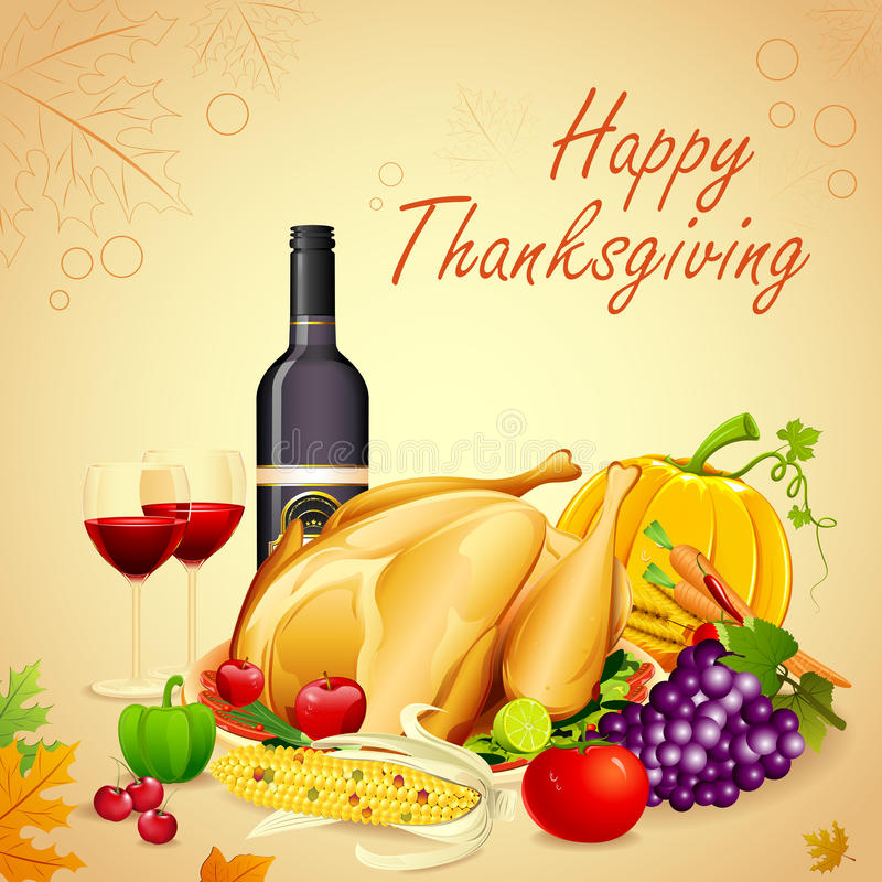 Thanksgiving Dinner stock illustration