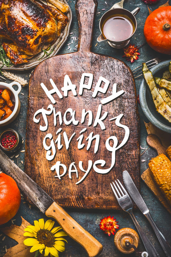 Download Thanksgiving Dinner Background With Turkey Saucegrilled Vegetablescorn Cutlery