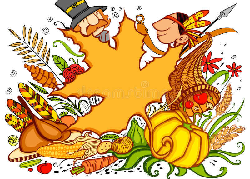 Thanksgiving Doodle vector illustration