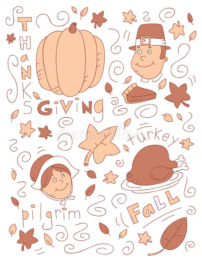 Download Thanksgiving Doodle Stock Image - Image: 8336231