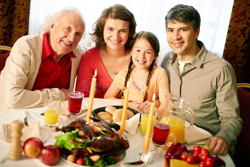 Thanksgiving Evening Stock Images