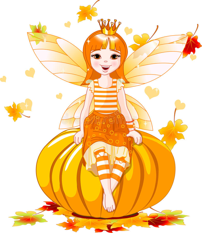 Thanksgiving fairy stock illustration