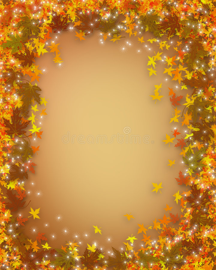 Thanksgiving Fall Autumn border royalty free illustration