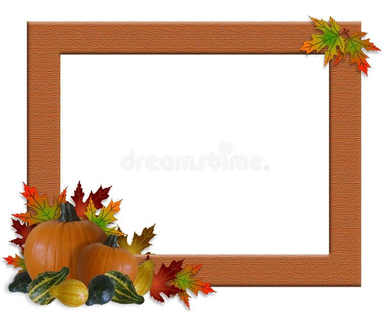 Thanksgiving Fall Autumn Frame Burlap Royalty Free Stock Photography