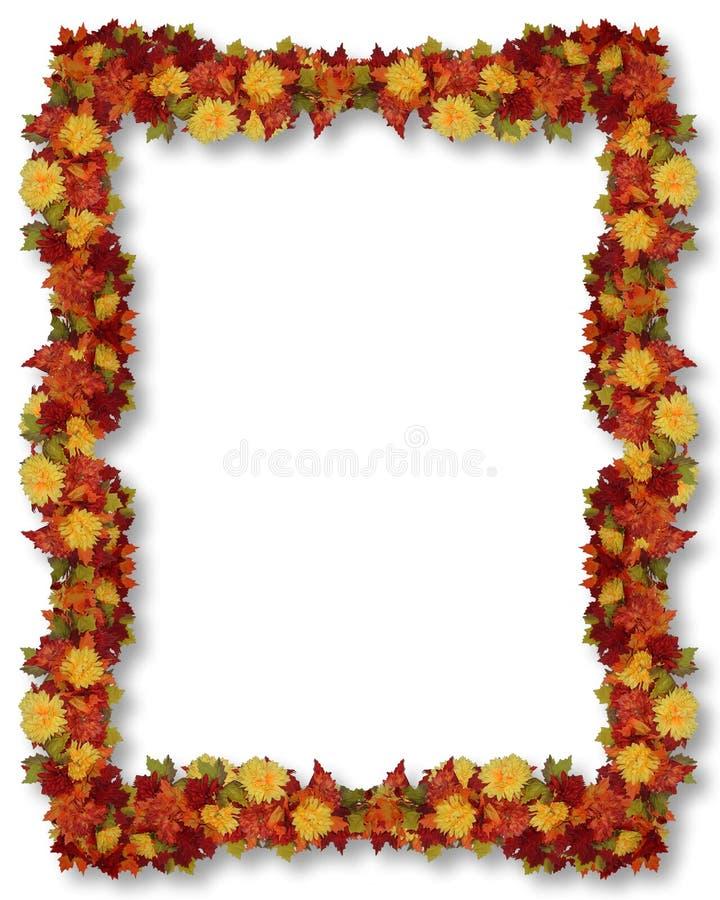 Thanksgiving Fall Leaves Frame stock illustration