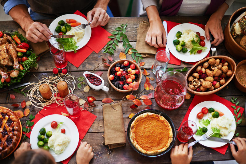 Thanksgiving feast royalty free stock photography
