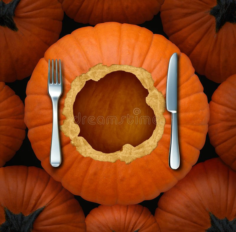 Thanksgiving Food royalty free illustration