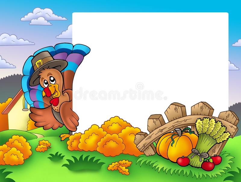 Download Thanksgiving Frame With Turkey 1 Stock Illustration - Illustration of looking, lurk: 15884128